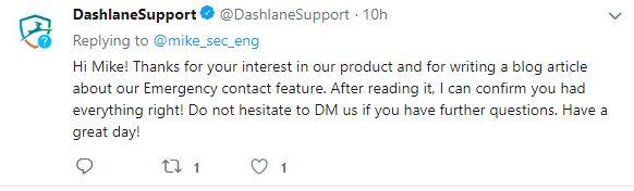 Dashlane Tweet